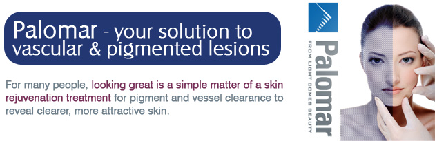 Palomar® offers skin care lasers and pulsed light devices that deliver energy to target and destroy vascular and pigmented lesions associated with spider veins, reticular veins, rosacea, telangiectasias, hemangiomas, sun damage, age spots, dyschromia, melasma, poikiloderma, and angiomas from hands, legs, chest, arms and face.
